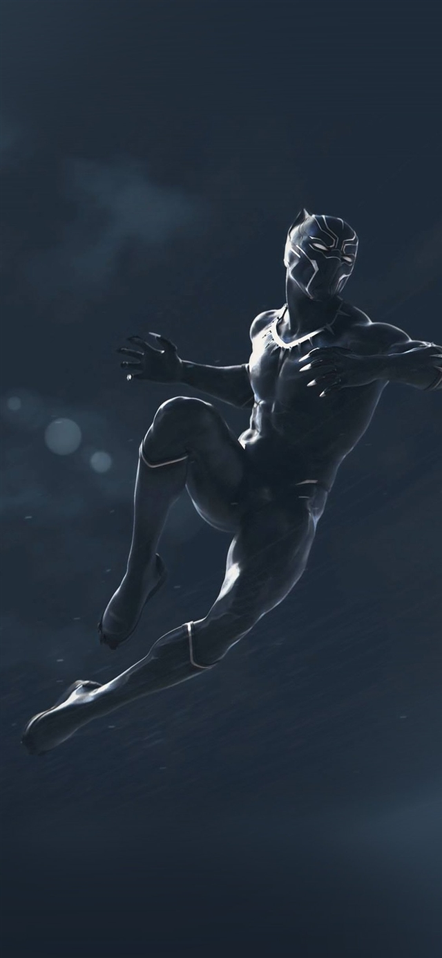 Marvel black panther dark art illustration iPhone 11 wallpaper