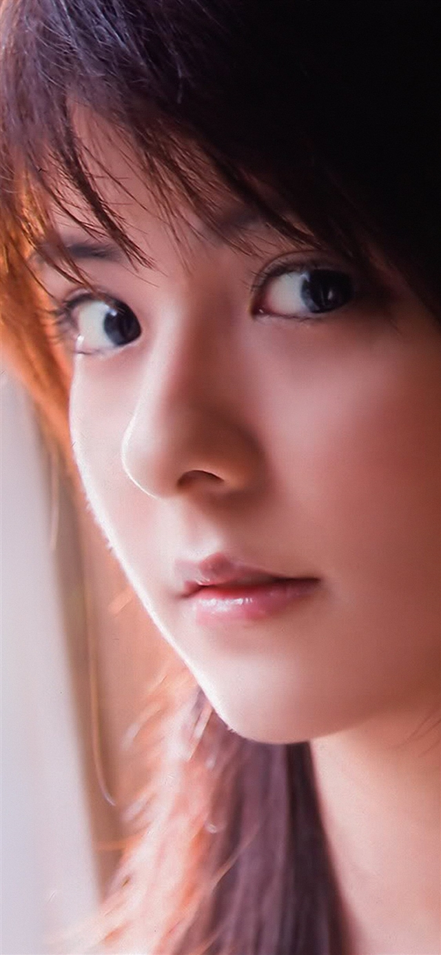 Mina fujii cute girl face iPhone X wallpaper