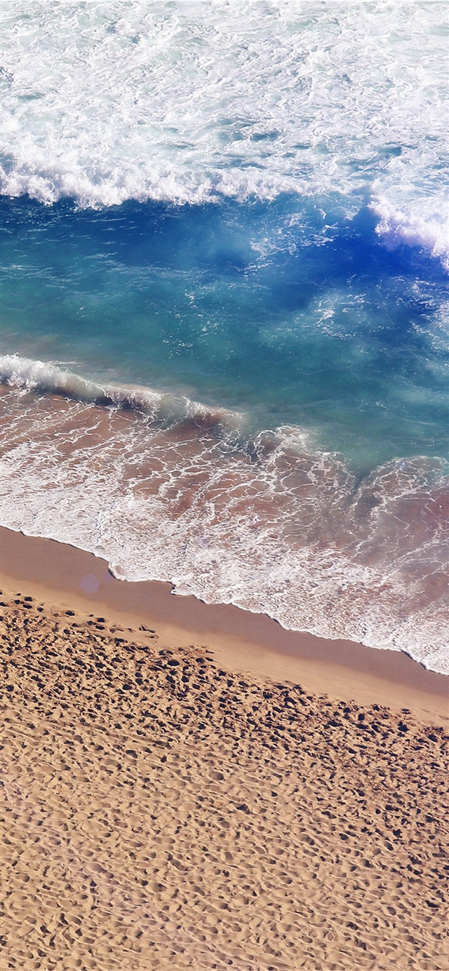Beach wave coast iPhone 11 wallpaper