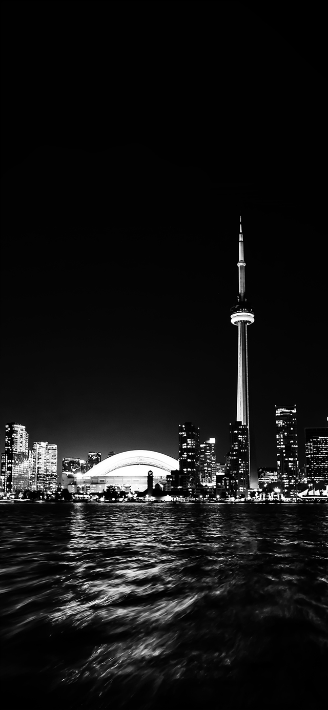 Toronto city night  iPhone X wallpaper