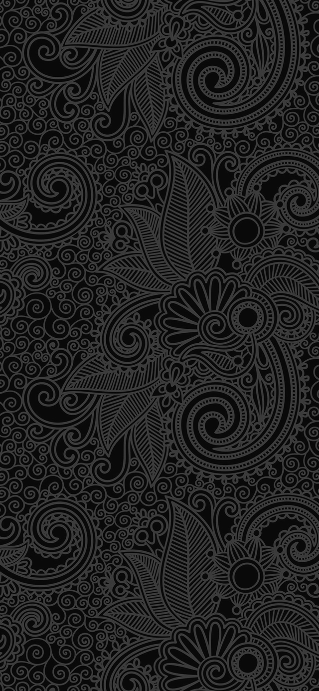 Design flower line dark pattern iPhone X wallpaper