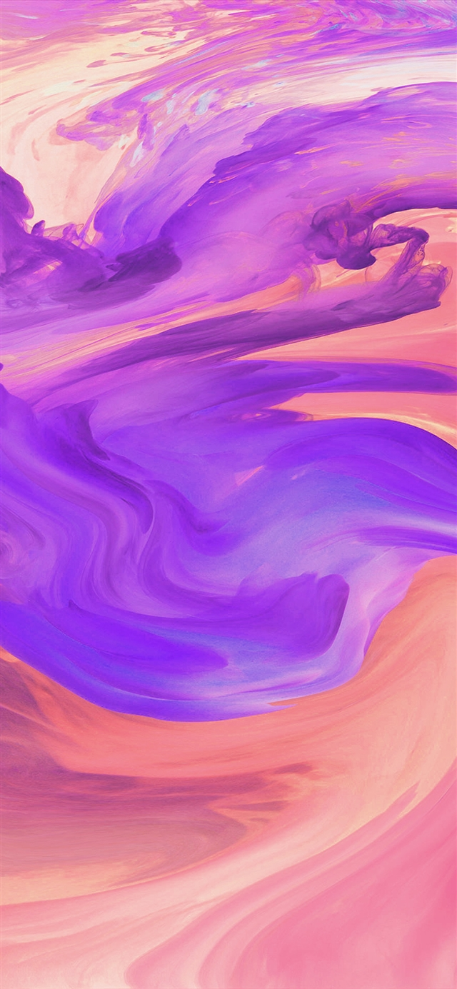 Hurricane swirl abstract art paint purple pattern iPhone 11 wallpaper
