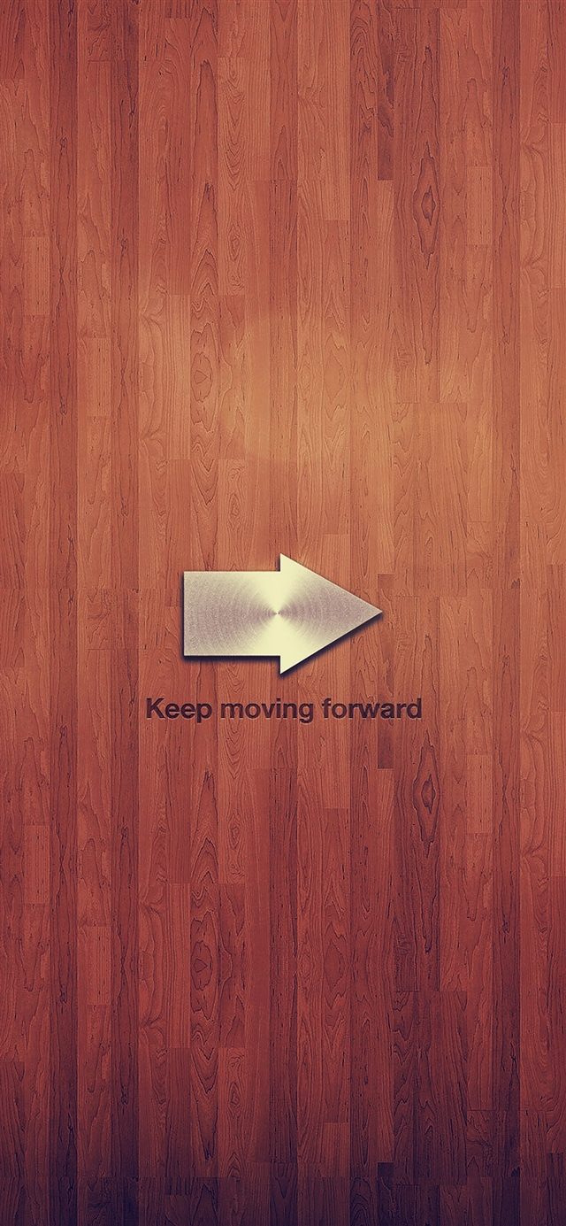 Keep moving forward blue quote tree texture iPhone X wallpaper