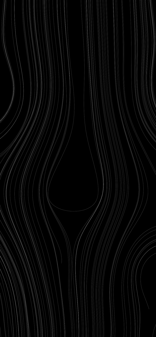 Lines curve dark pattern iPhone 11 wallpaper