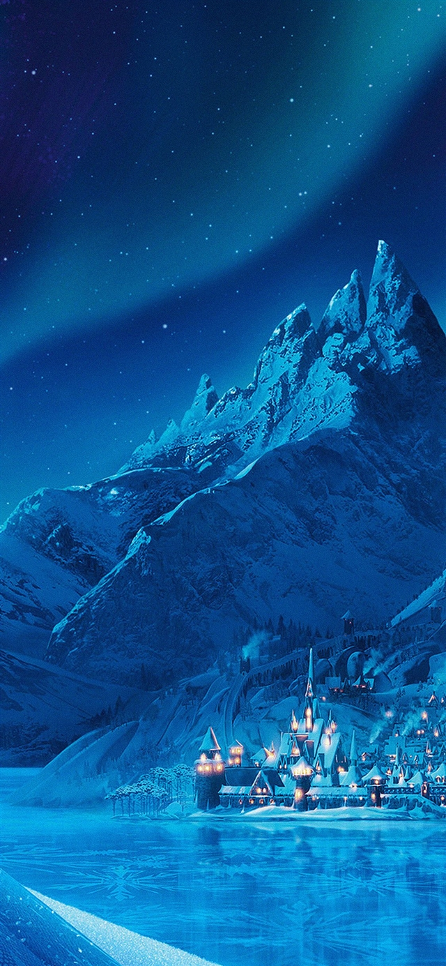 Elsa frozen castle queen iPhone X wallpaper