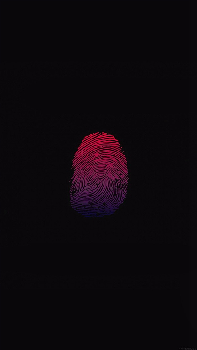 Finger print unlock art minimal iPhone 8 wallpaper