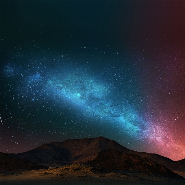 Night sky dark color star shining iPad Pro wallpaper