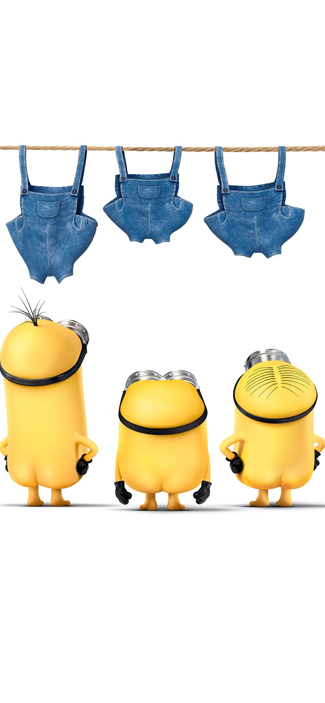 Minions despicable nude me cute yellow art illustration iPhone X wallpaper
