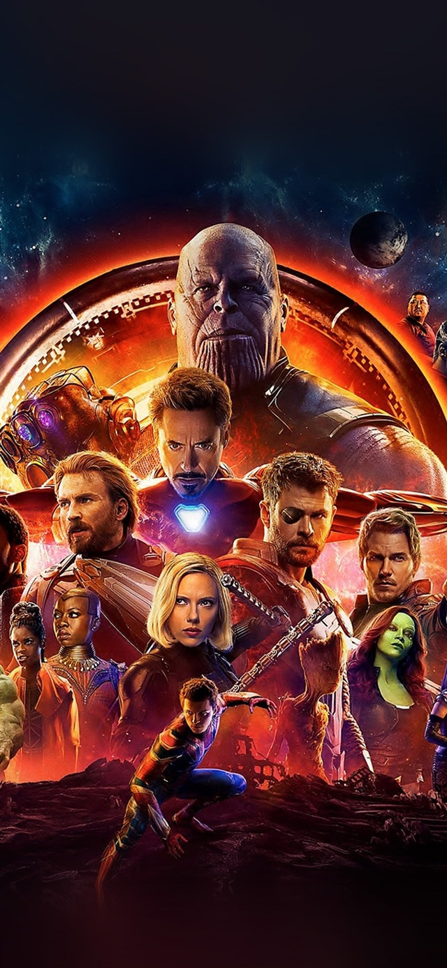 Infinity war marvel avengers hero art illustration iPhone X wallpaper