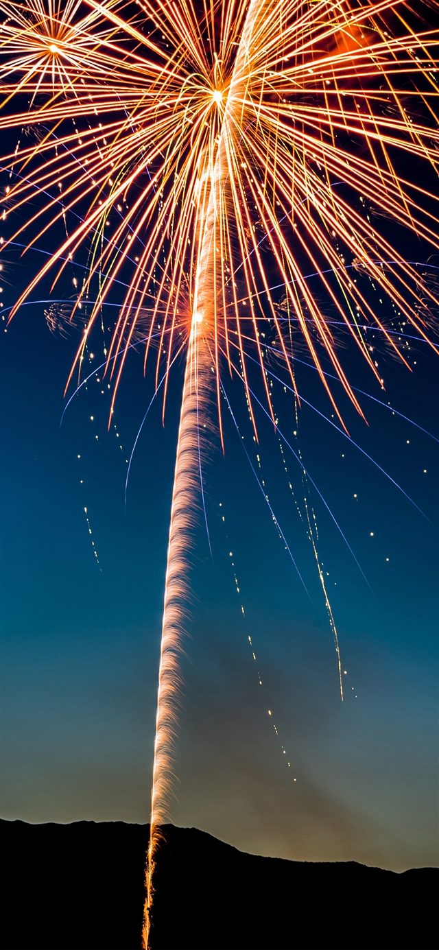 Fireworks sky iPhone X wallpaper
