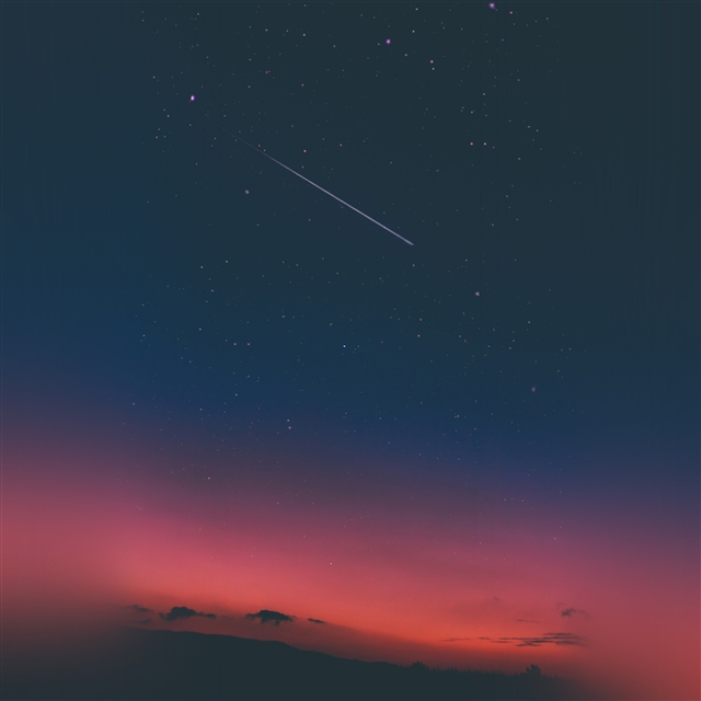 Sky sunset night blue iPad Pro wallpaper