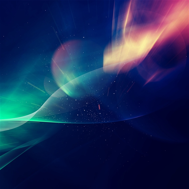 Abstract lights vector iPad Pro wallpaper