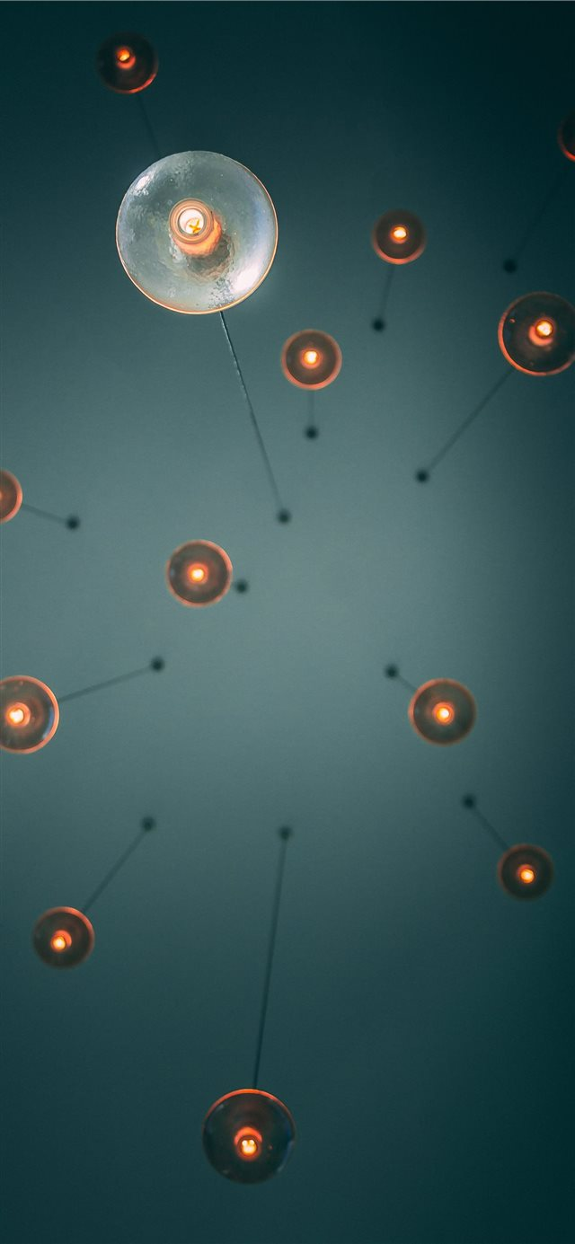 Ceiling Lights 2 0 iPhone X wallpaper