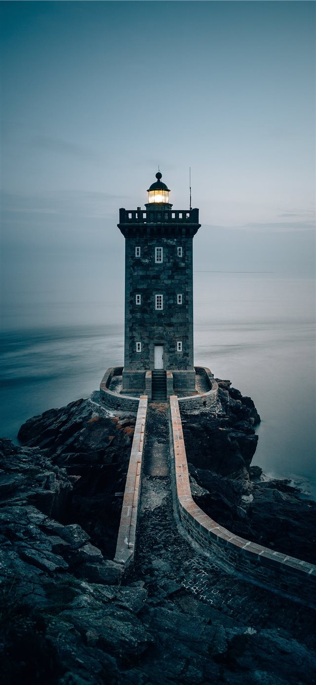 Lighthouse in the Brittany  France iPhone 11 wallpaper