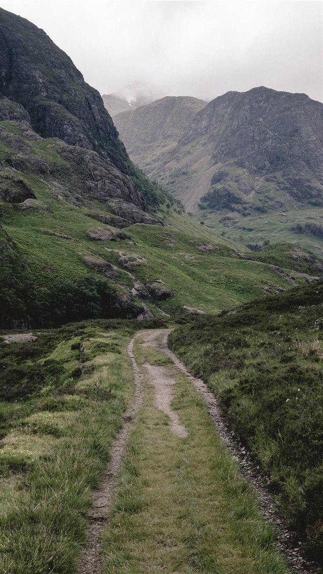 Road less traveled iPhone SE wallpaper