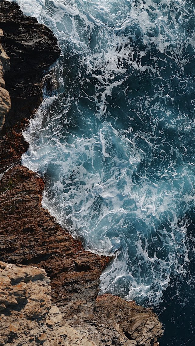wild blue sea iPhone 8 wallpaper