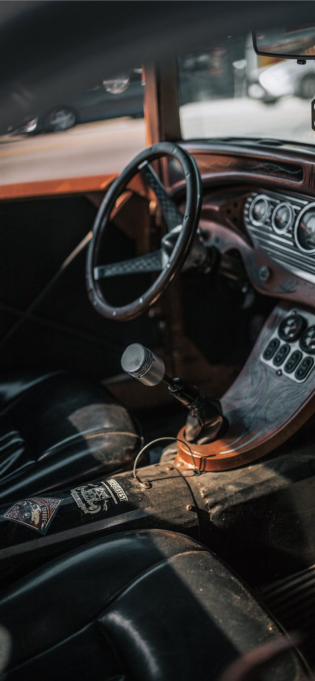 Custom Hot Rod iPhone X wallpaper