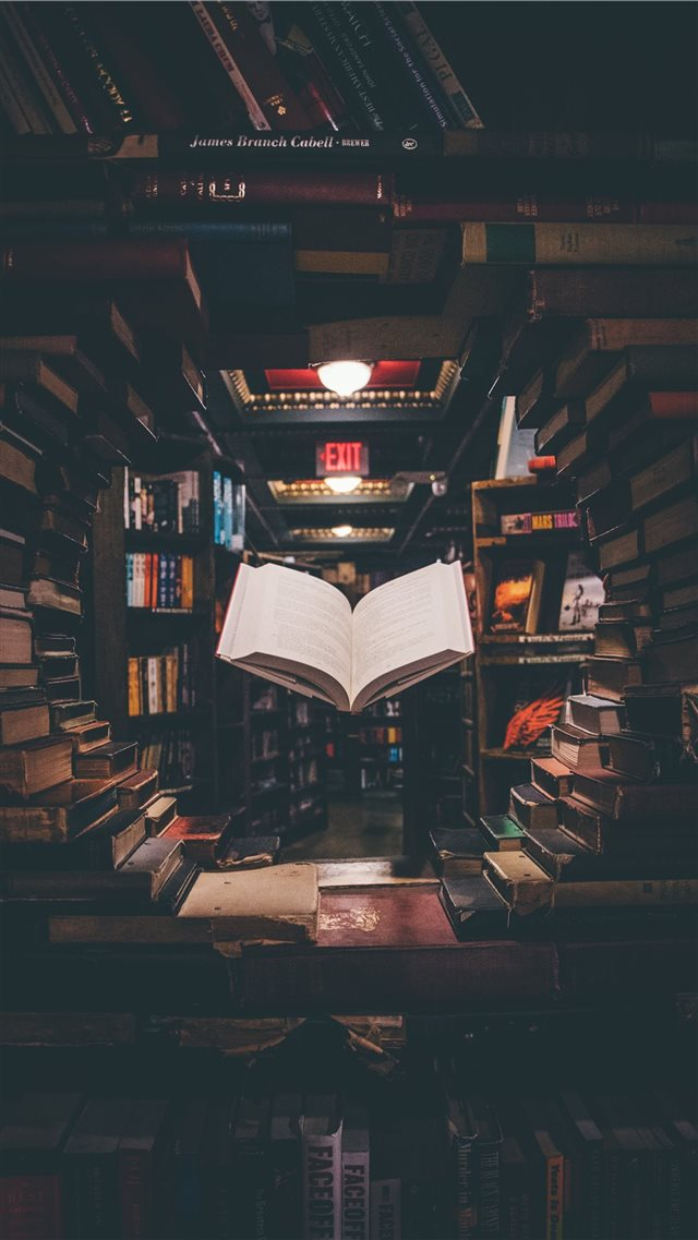Floating Book iPhone 8 wallpaper