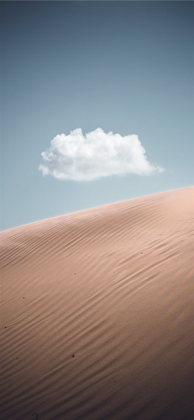 Lonely cloud iPhone X wallpaper
