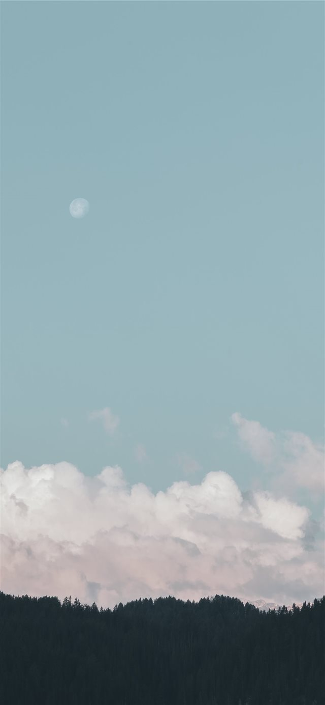 Pastel clouds iPhone X wallpaper