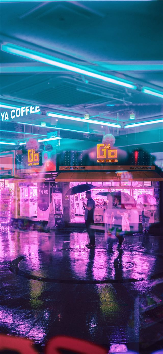 Seoul Streets iPhone X wallpaper