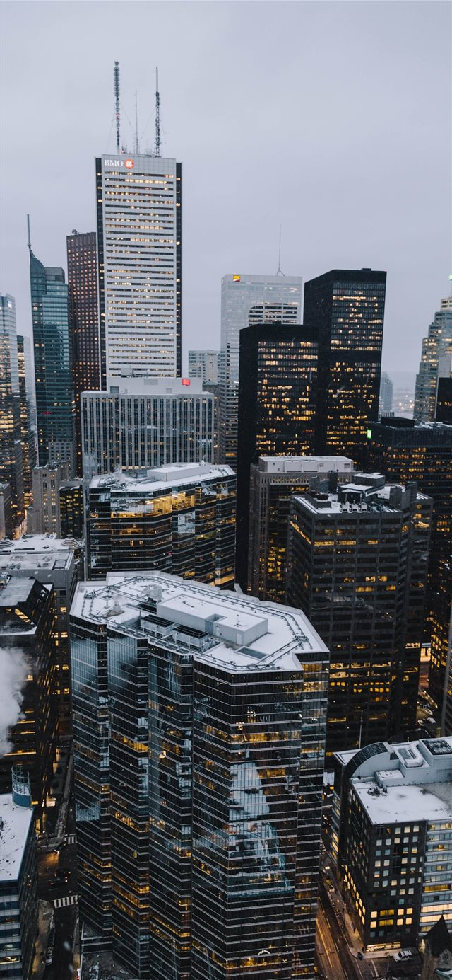 Toronto Financial District iPhone 11 wallpaper