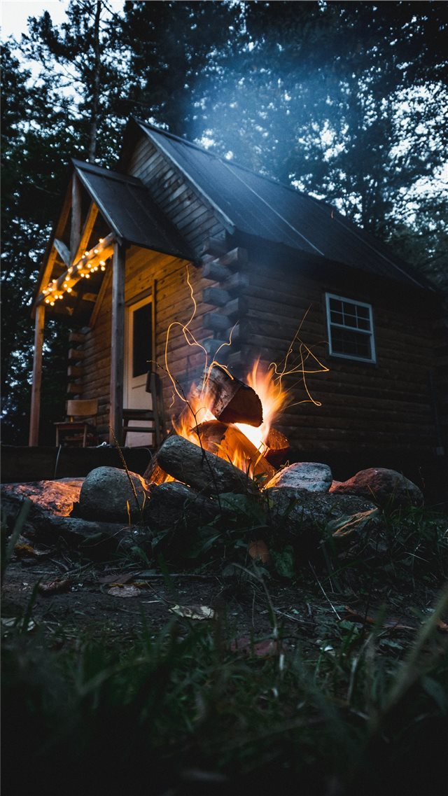 Cabin in the Woods iPhone 8 wallpaper