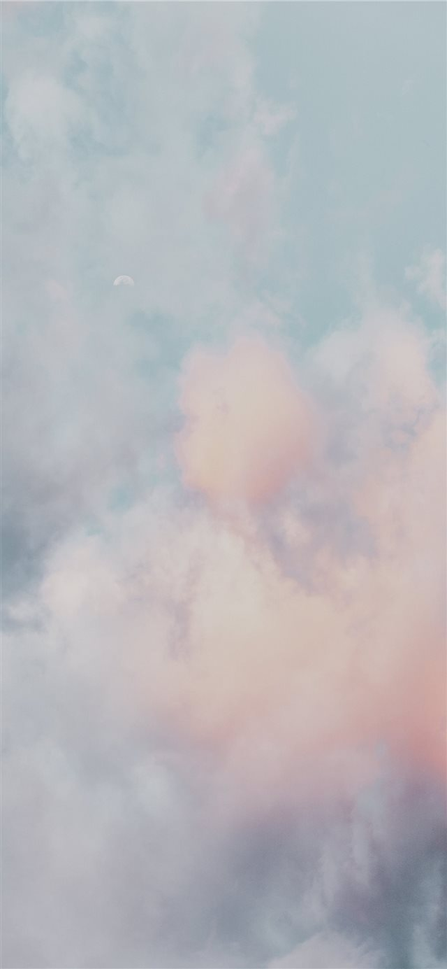 Clouds and moon iPhone X wallpaper