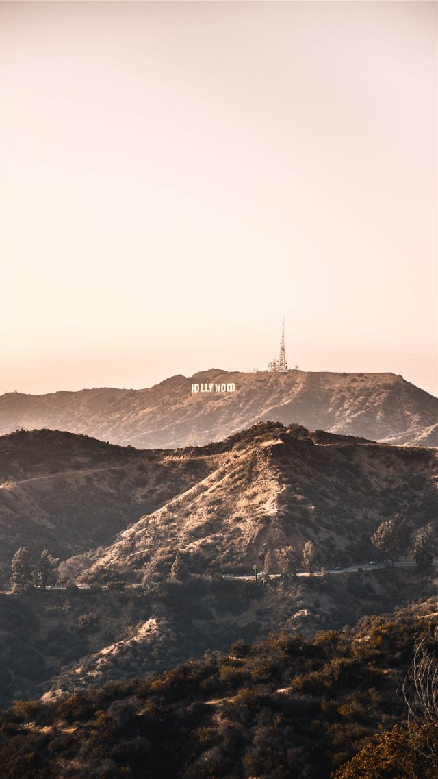Hollywood Hills iPhone 8 wallpaper
