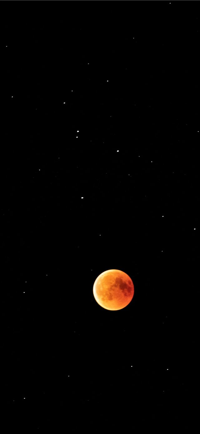 Lunar eclipse within the stars iPhone X wallpaper