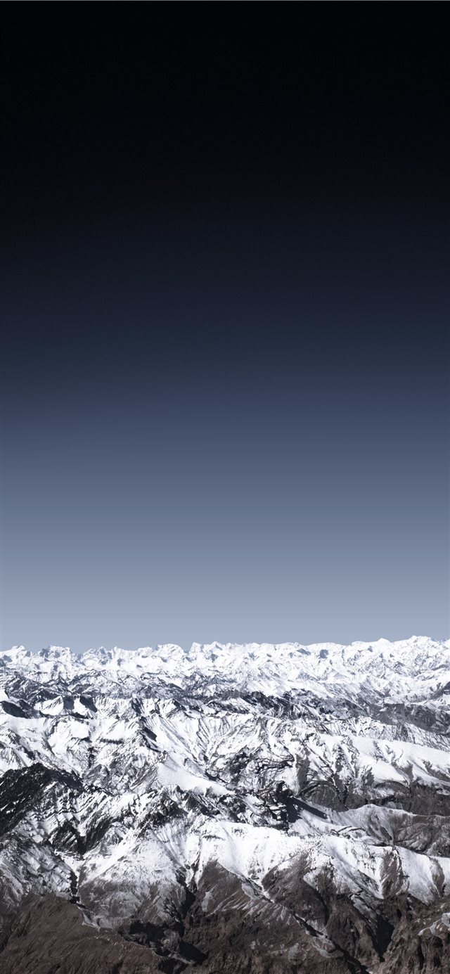The mighty Himalayas iPhone X wallpaper