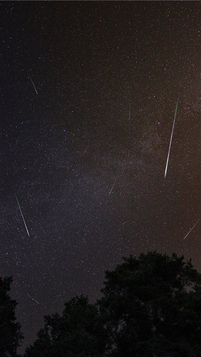 This is Perseid Meteor Shower iPhone 8 wallpaper