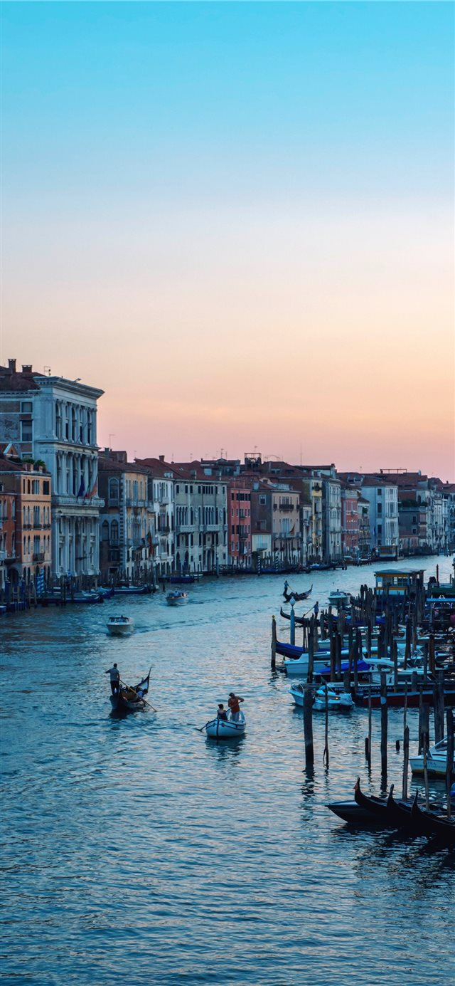 Venice Sunset iPhone X wallpaper