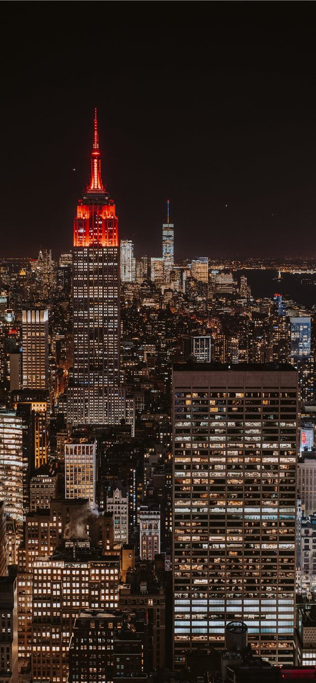 Bright New York Skyline Iphone X Wallpaper Download Iphone