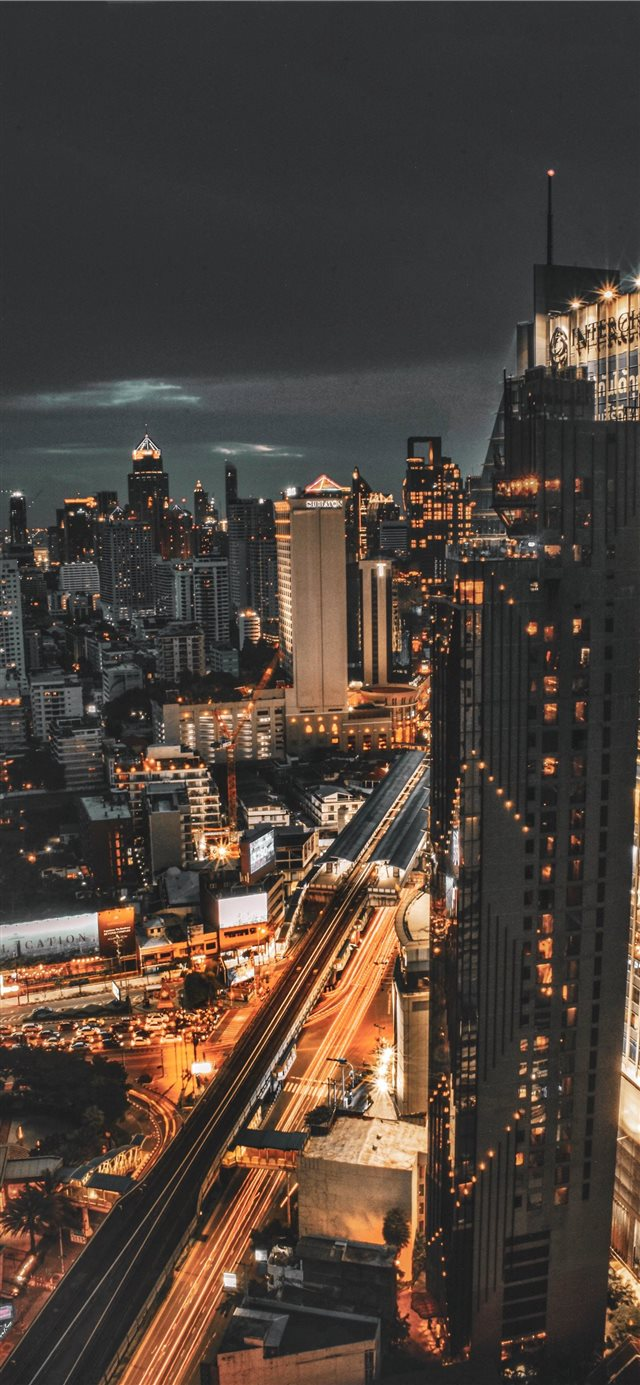 Busy Bangkok iPhone X wallpaper
