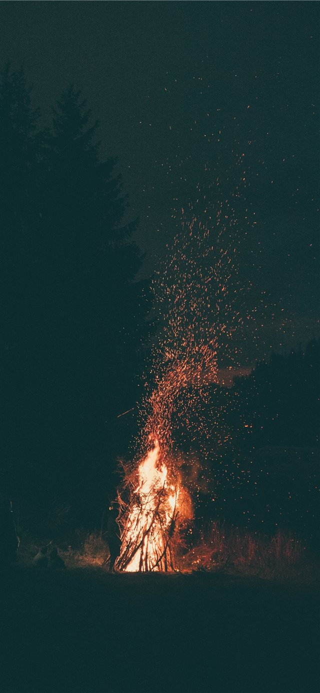 Fire is silence iPhone X wallpaper
