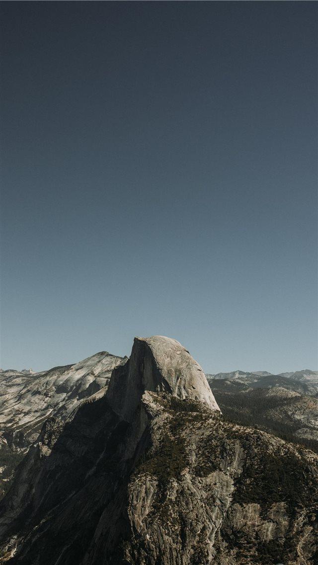 Glacier Point Yosemite Valley United States iPhone 8 wallpaper