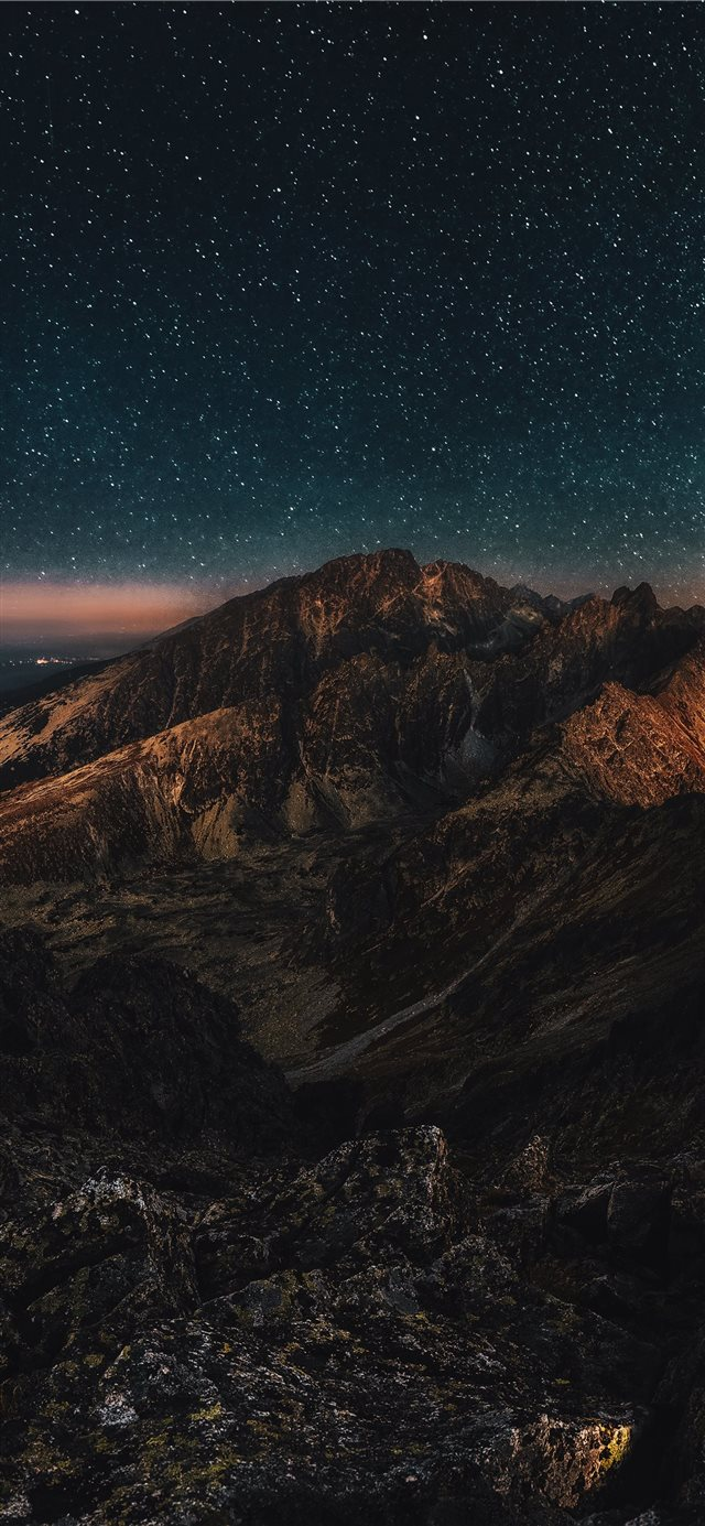 Starry night iPhone X wallpaper