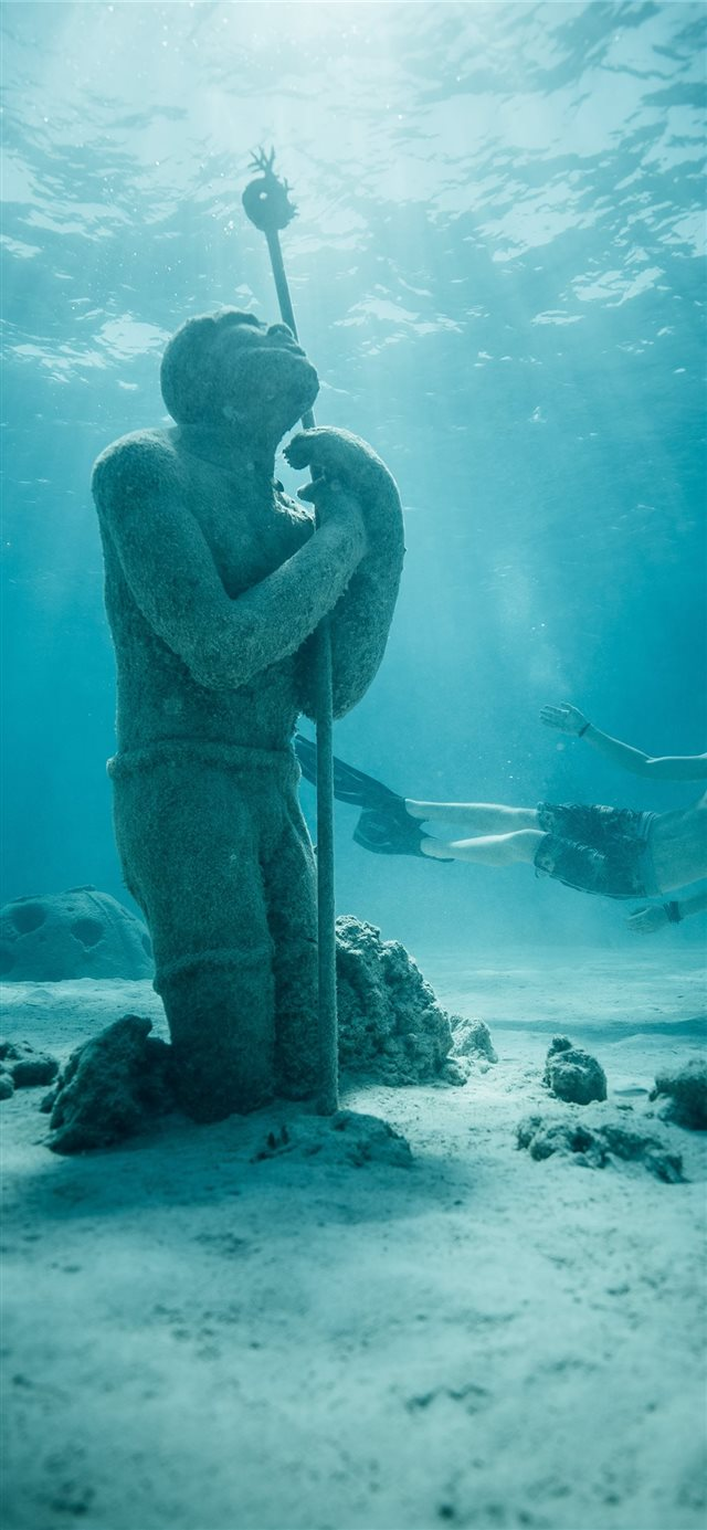 freediver iPhone 11 wallpaper