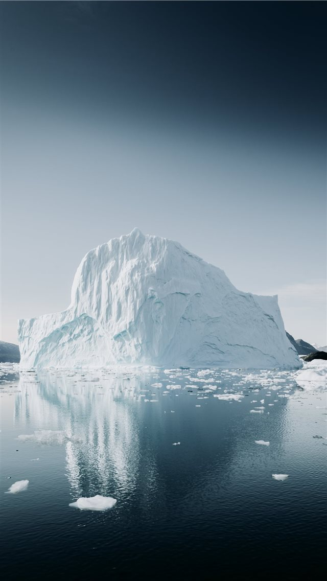 Arctic Iceberg  reflected iPhone SE wallpaper