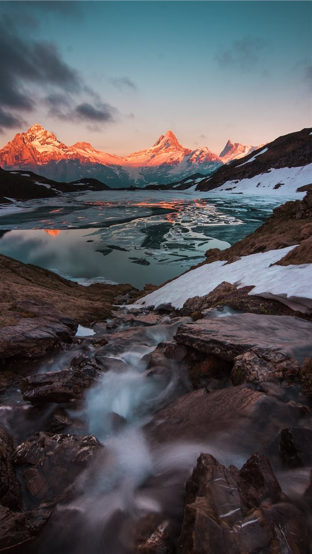 Bachalpsee  Grindelwald  Switzerland iPhone 8 wallpaper