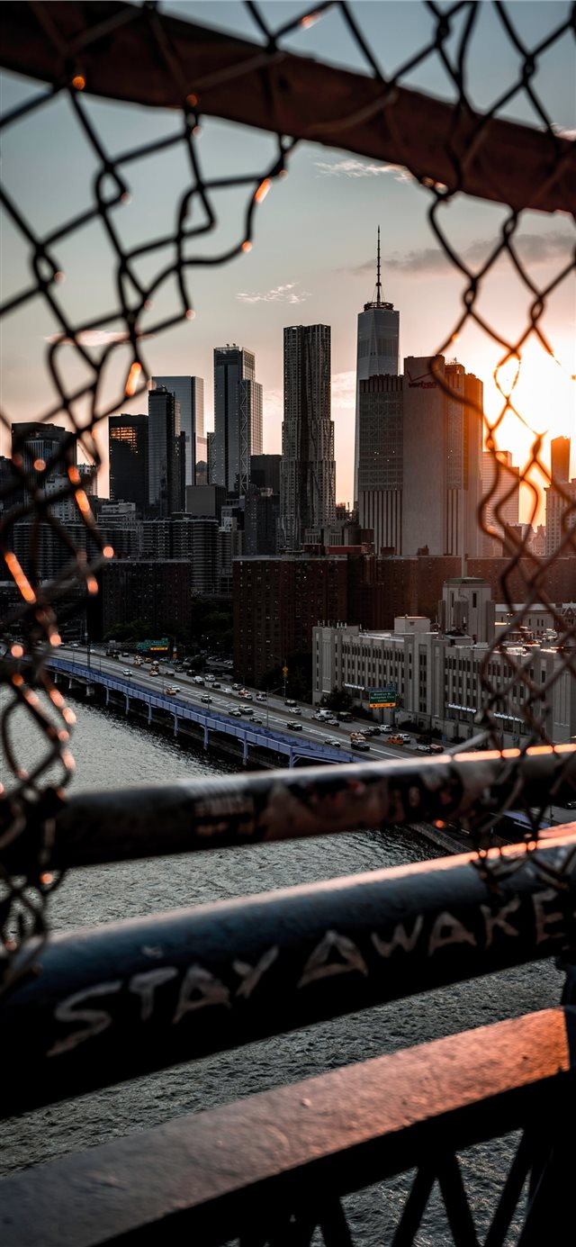 Sunsets on the Bridge  iPhone X wallpaper