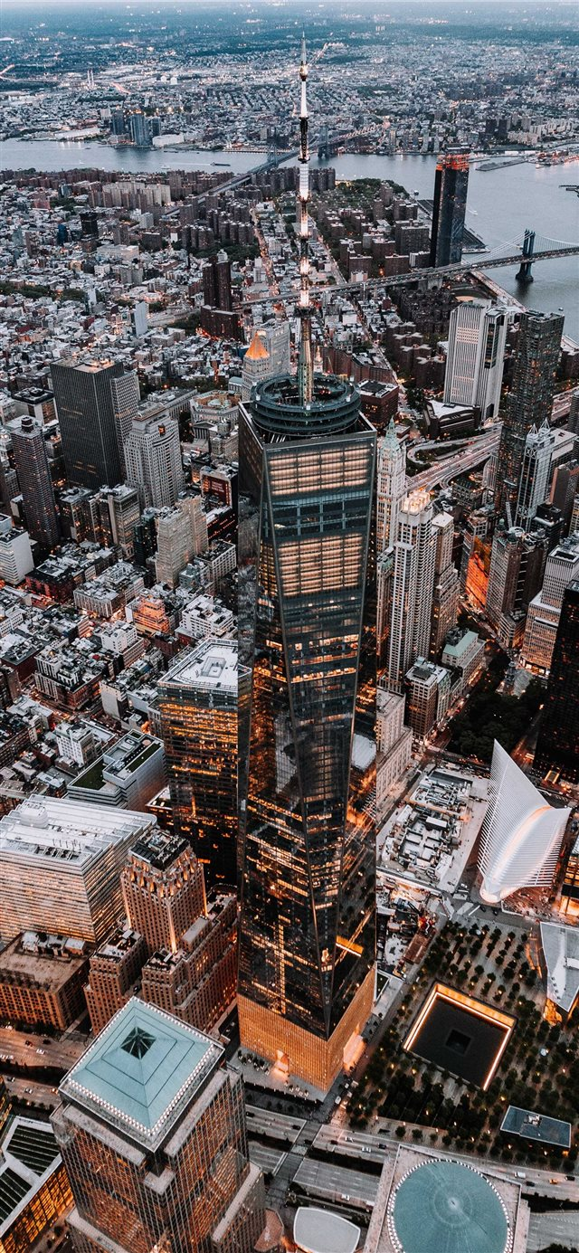 World Trade Centre from Above iPhone X wallpaper