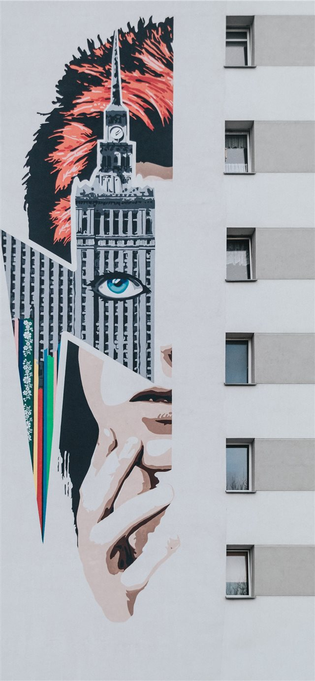 David Bowie graffiti iPhone X wallpaper