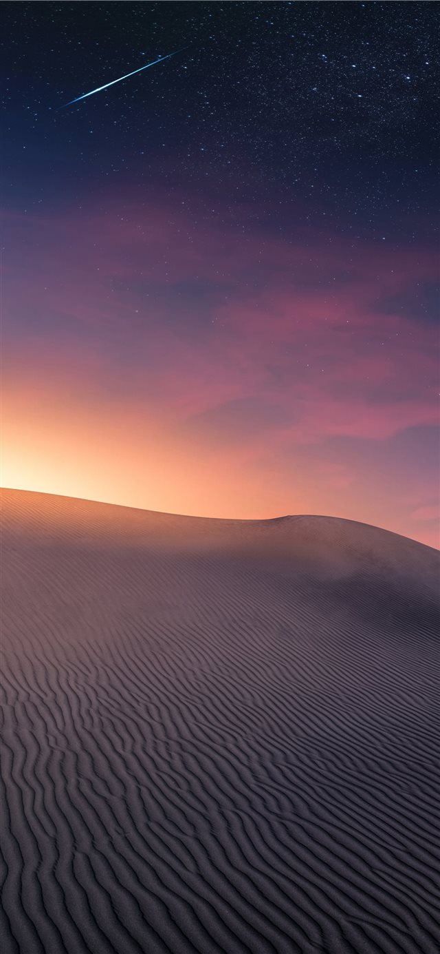 Desert Landscape   Sunset and Comet iPhone X wallpaper