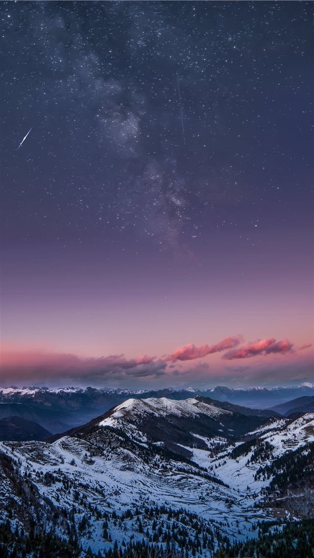 Mountain Milky Way iPhone 8 wallpaper