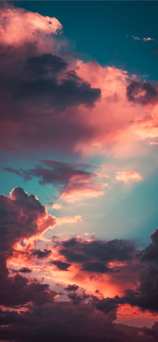 My favourite cloudscape of the year iPhone X wallpaper