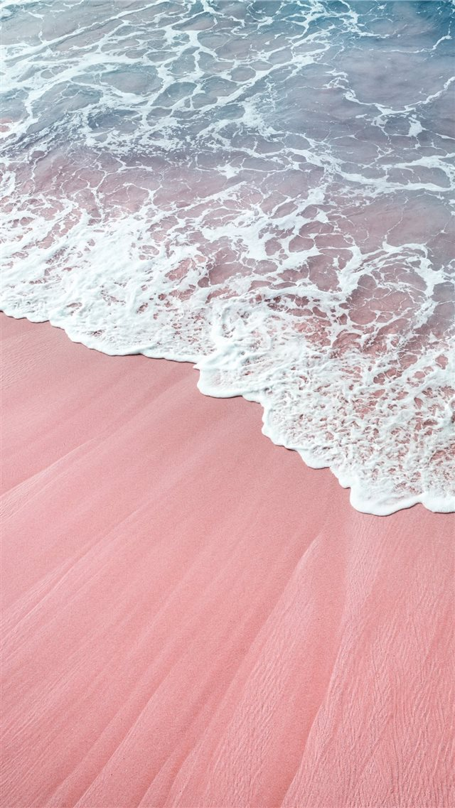 pink wawes iPhone 8 wallpaper