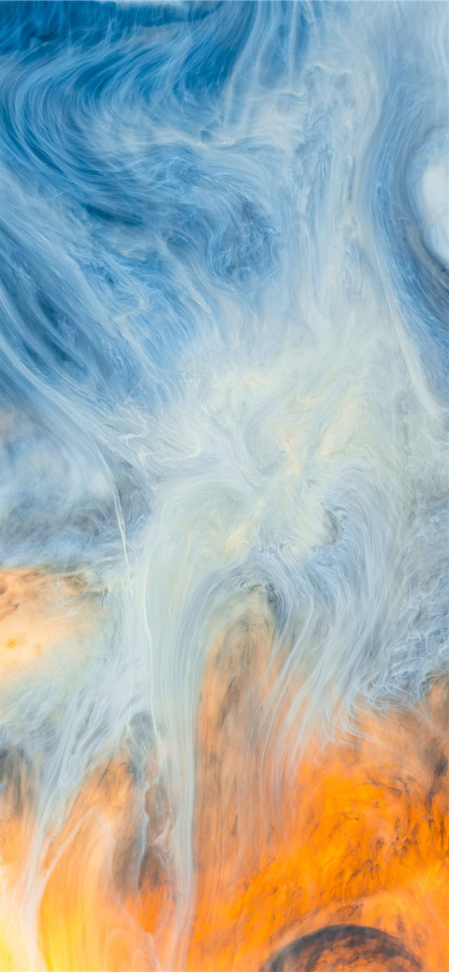 Acrylic paint abstract photo 2 iPhone 11 wallpaper