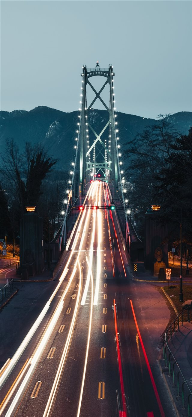 Lions Gate Bridge  Vancouver  Canada iPhone X wallpaper